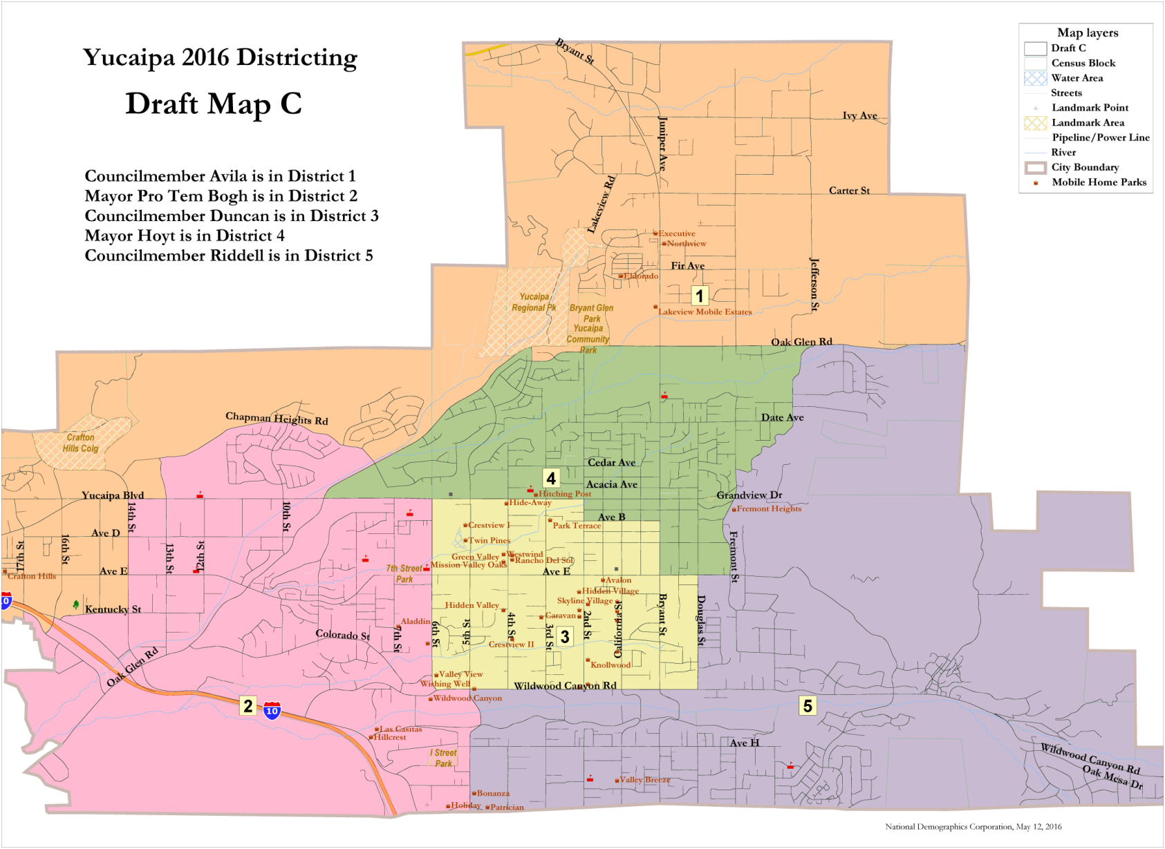 Yucaipa council selects voting district map News newsmirrornet