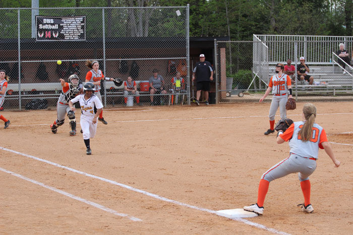 Orange softball