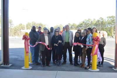 Ribbon cutting to celebrate the renovation and reopening of the Eubanks Road Waste and Recycling Center