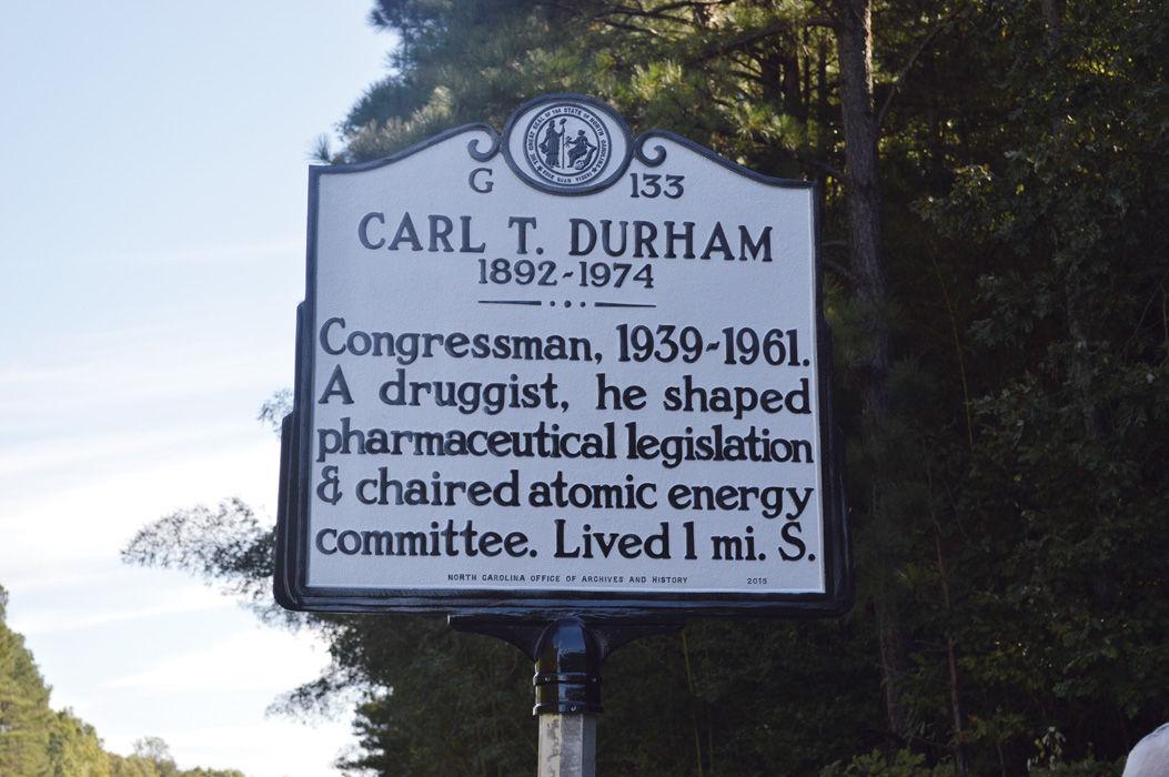 N.C. 54 Durham marker