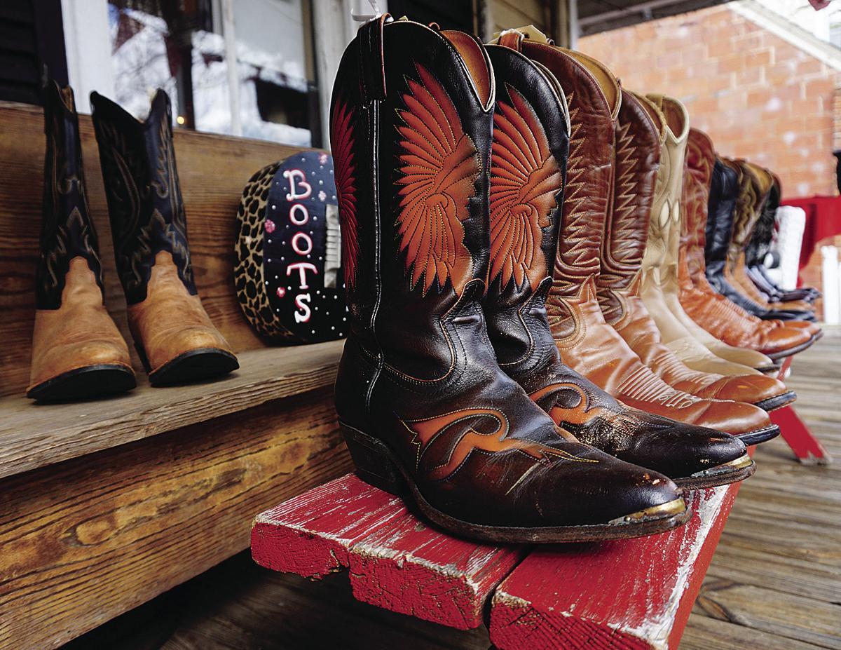 Cowboy boots at Uniquitiques