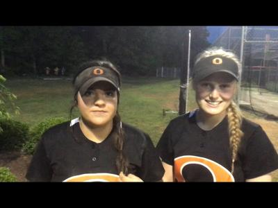 Orange seniors Olivia Ruff and Hayley Funk ended their softball careers last Friday in a tight loss to top-seeded D.H. Conley in Greenville