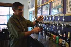 Co-owner Tony Lopez pulls a draft in Volume