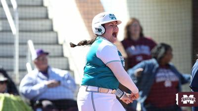 Mississippi State sophomore catcher and Orange High alum, Mia Davidson (33) broke multiple records with one swing of the bat on Saturday: her 26th homer of the season set the regular season SEC home run record. It was the 45th home run of her career, which set the school record for career home runs. Just a sophomore, Davidson figures to stretch that number out a bunch prior to graduating.