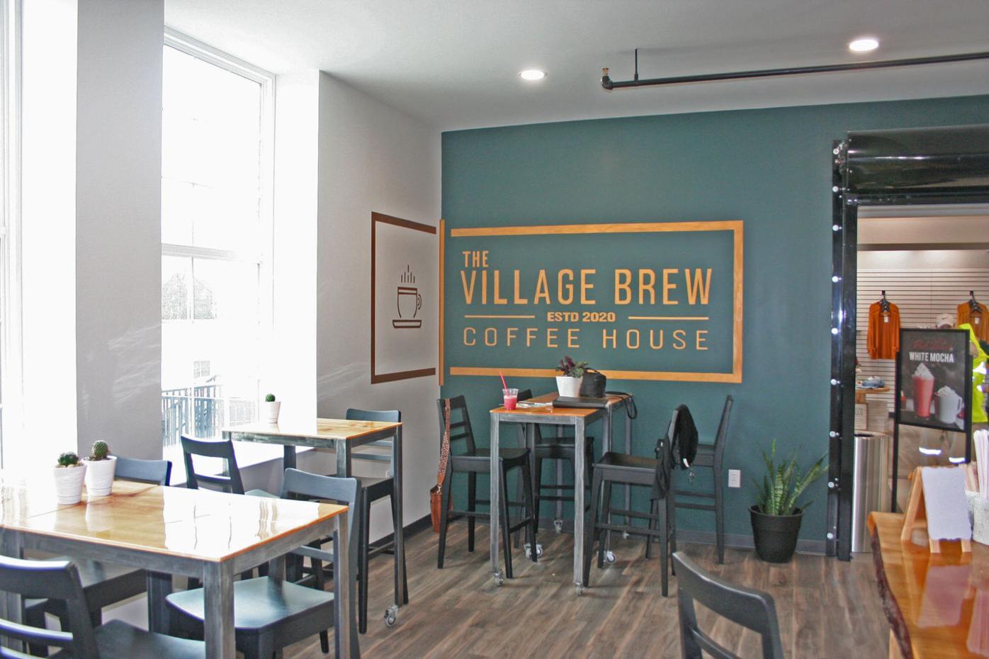 Village Brew - logo on wall
