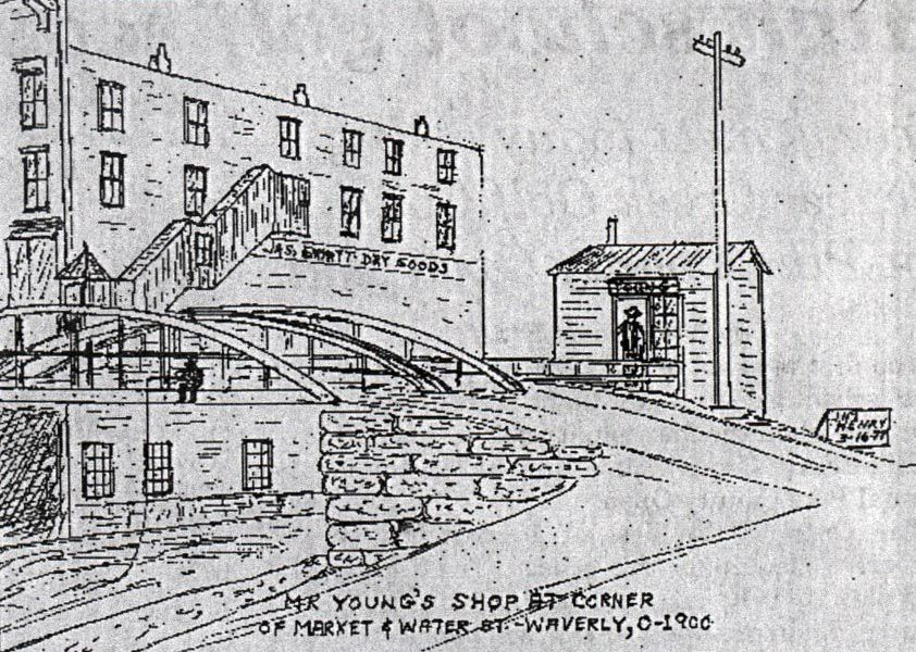Sketch of Mr. Young's shop