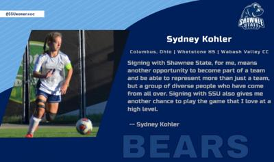 SSU Women's Soccer - Sydney Kohler