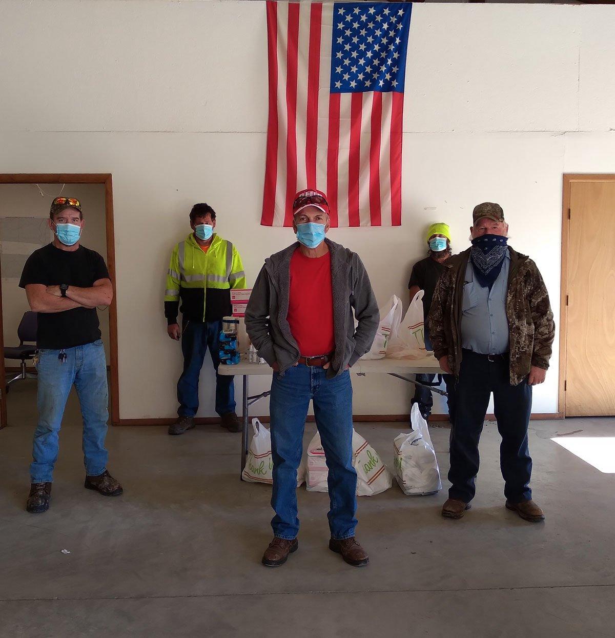 Camp Creek workers