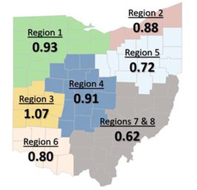 R0 Ohio map June 1