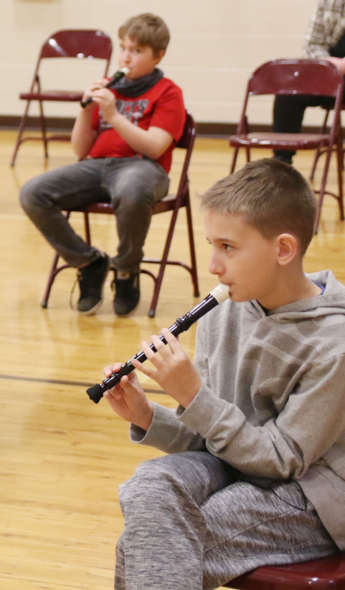 Eastern-boy with recorder
