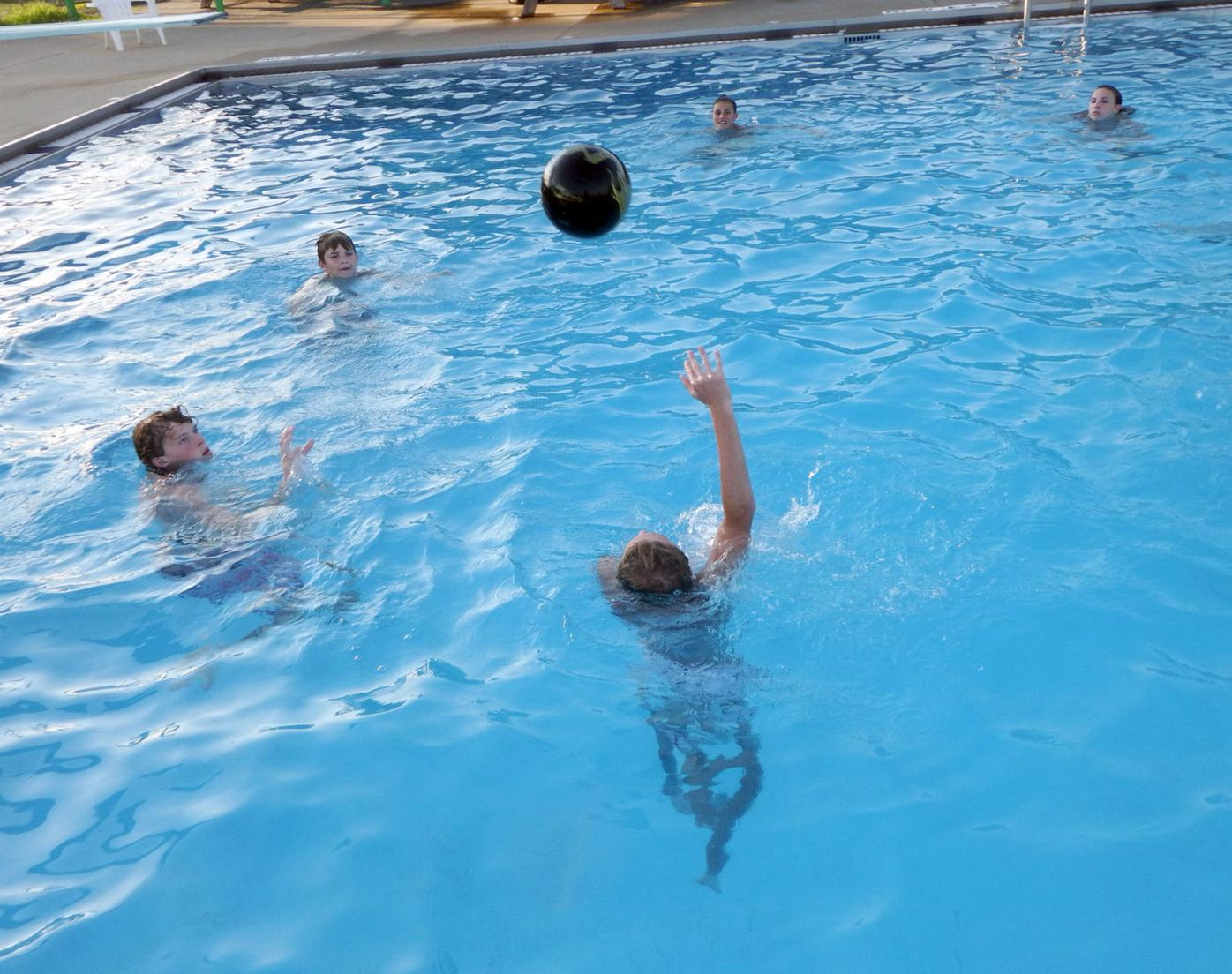 Waverly CC pool ball - throw deep end