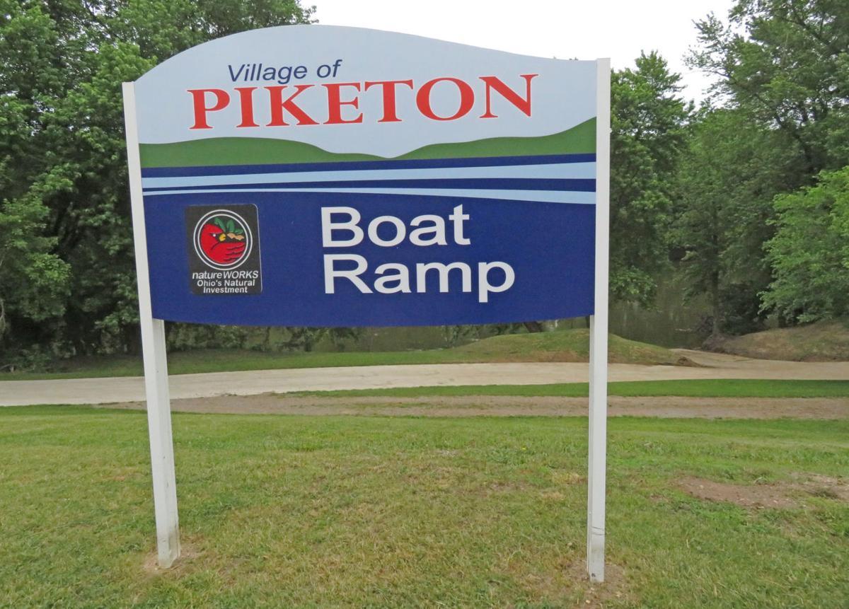 Piketon boat ramp sign