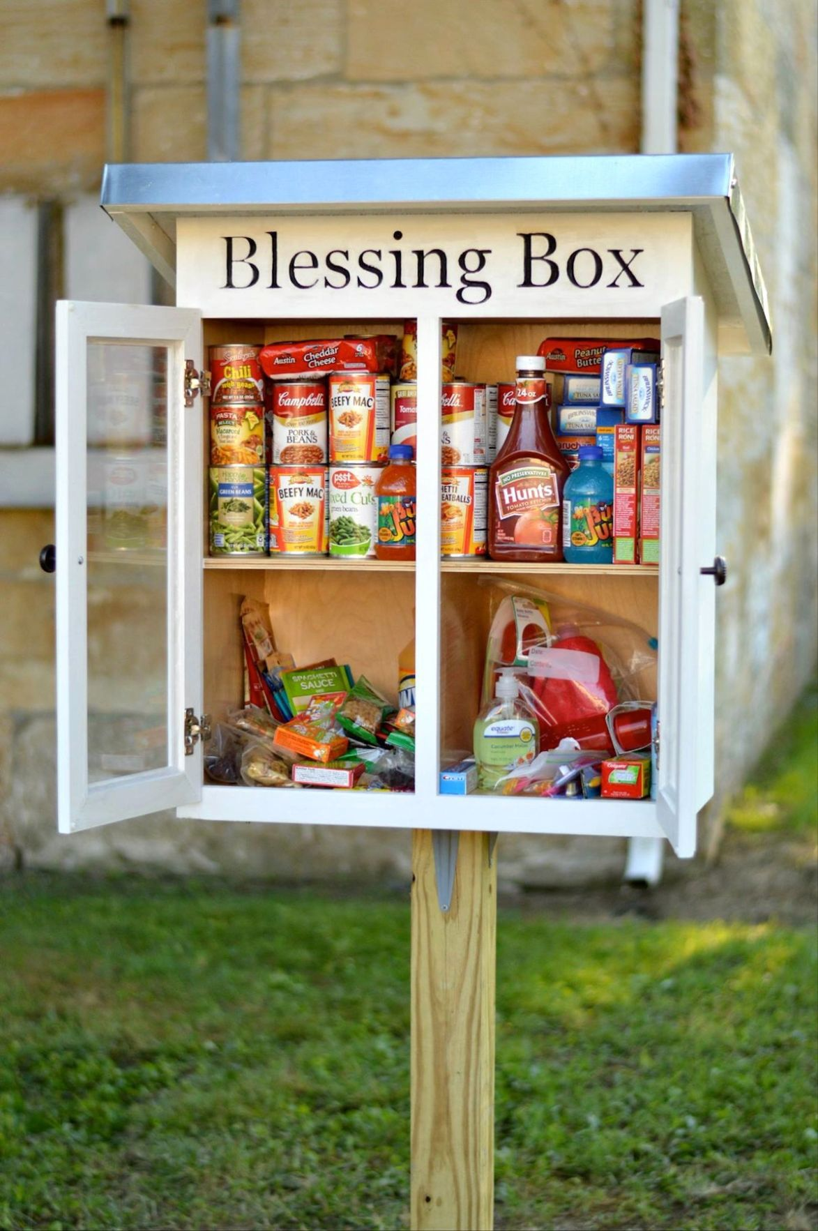 A Blessing To Those In Need Blessing Box Provides Way To