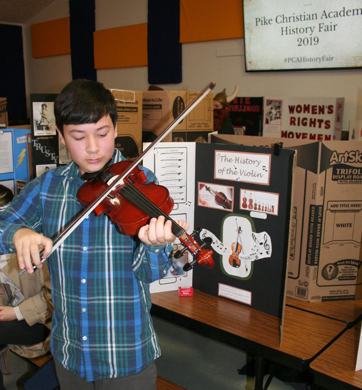 PCA history fair violin feature