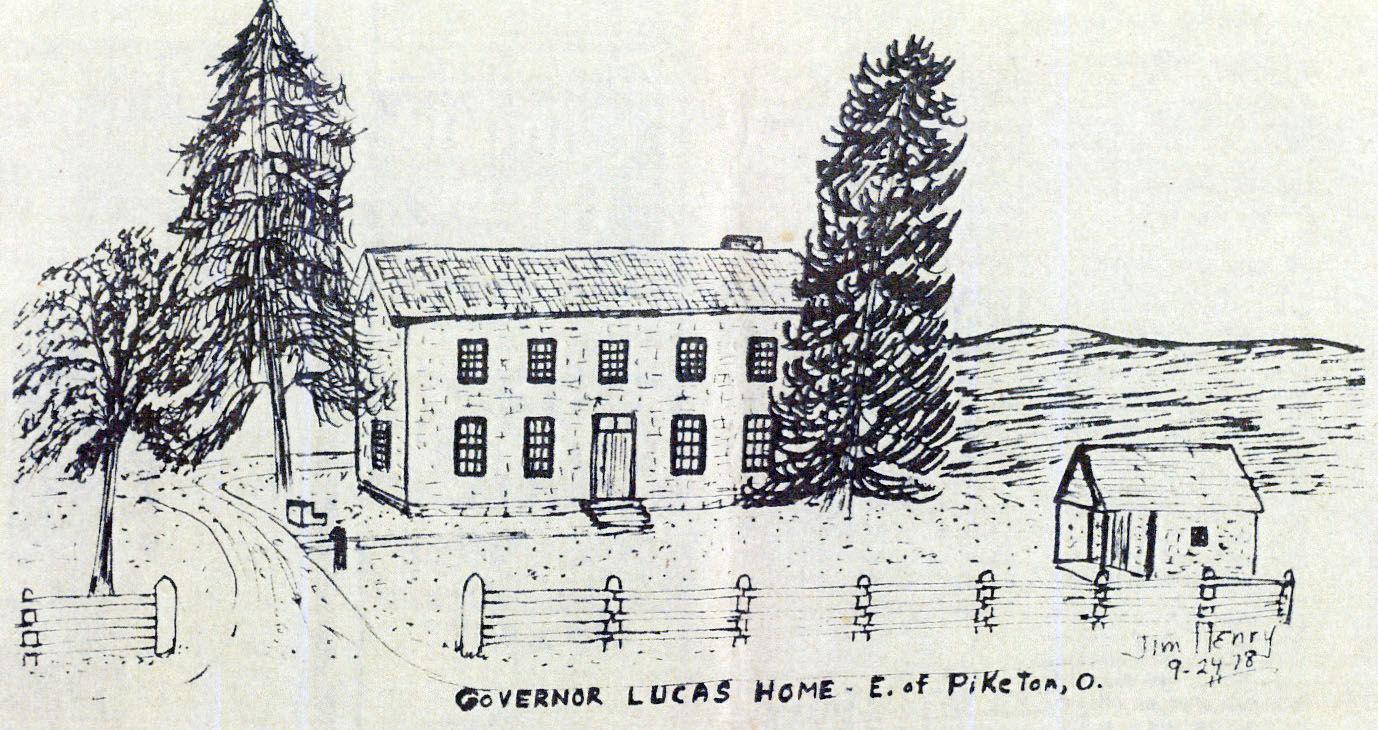 Jim Henry sketch - Governor Lucas home