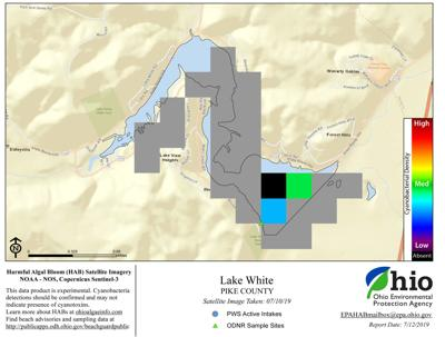 Lake White - Updated satellite imagery from July 10