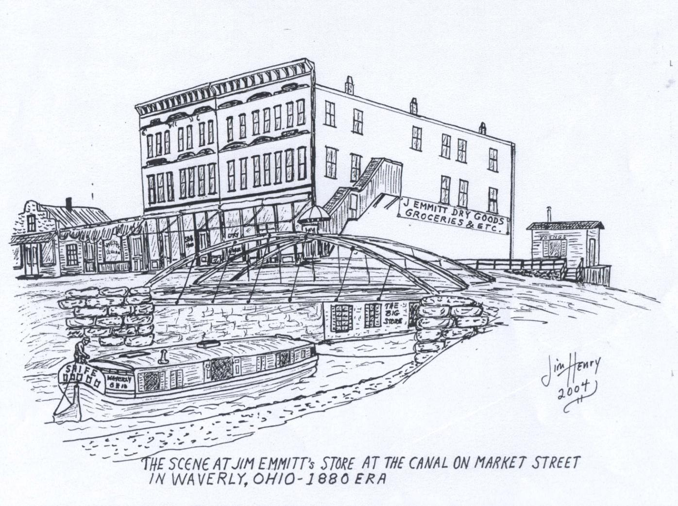 Jim Henry sketch - Canal and Greenbaum
