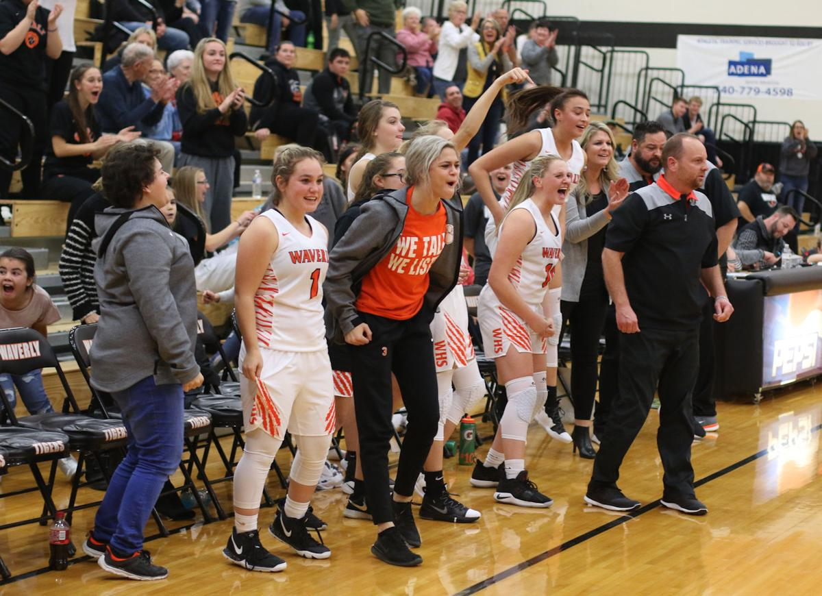 Waverly girls bench - excited