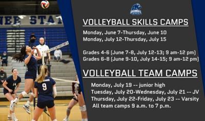 SSU Volleyball Camp graphic