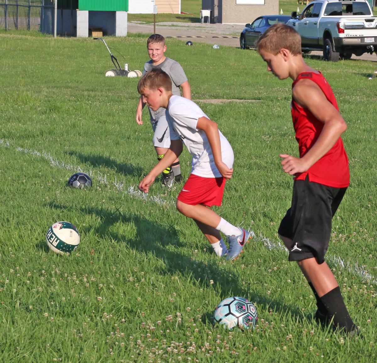 Western soccer - 3 boys