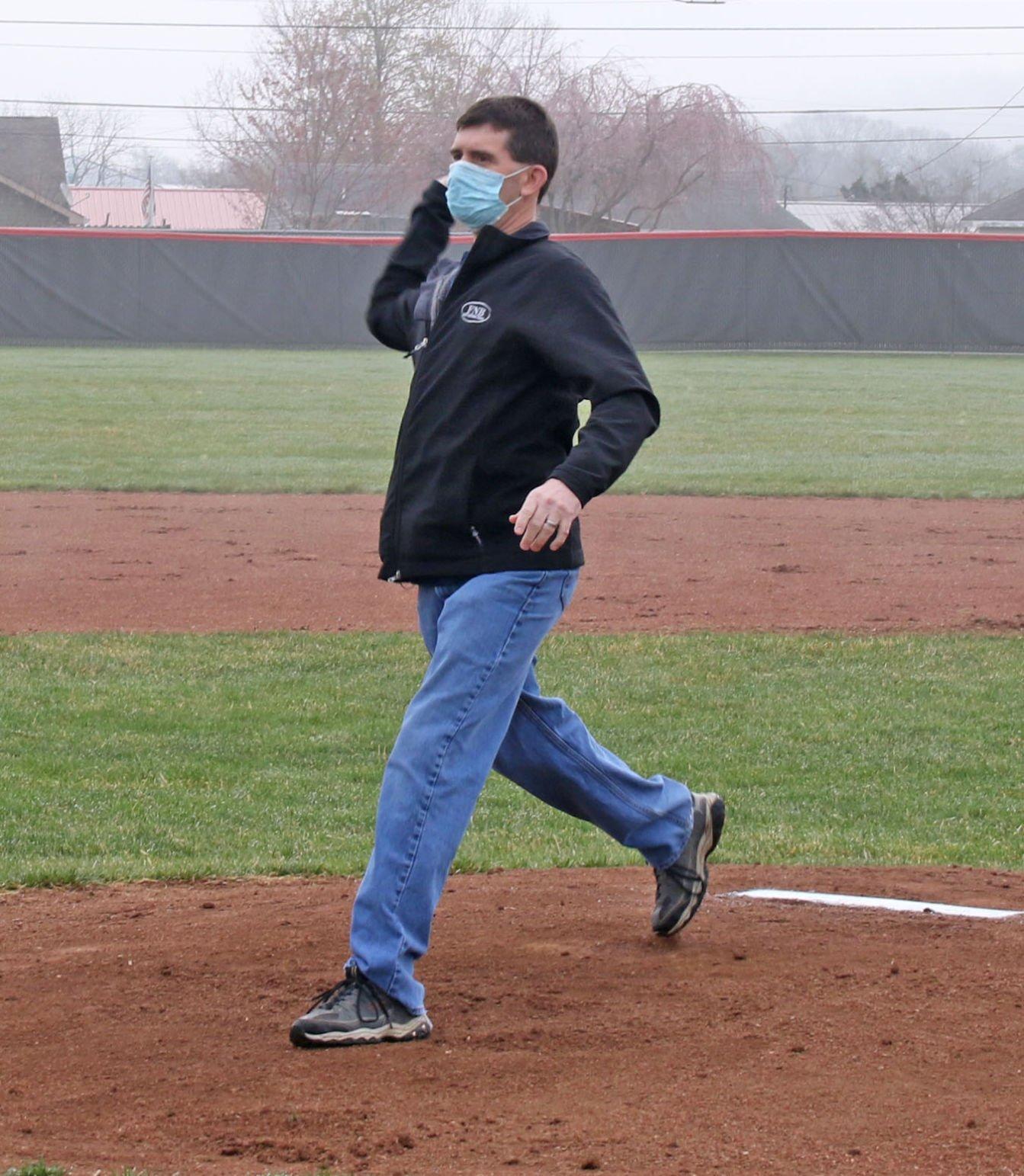 Brewster first pitch