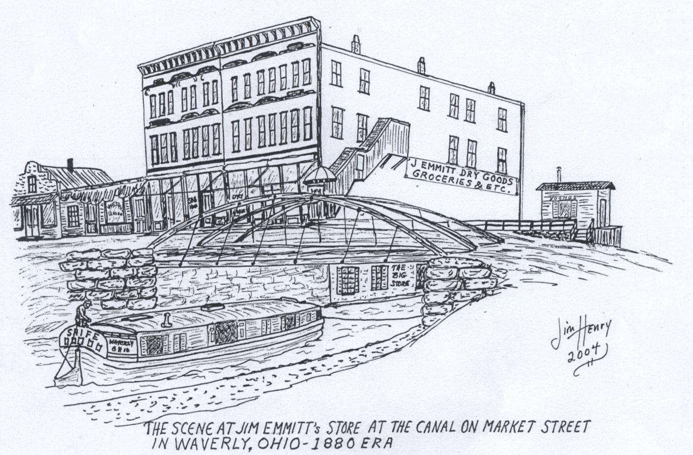 Greenbaum building and canal sketch
