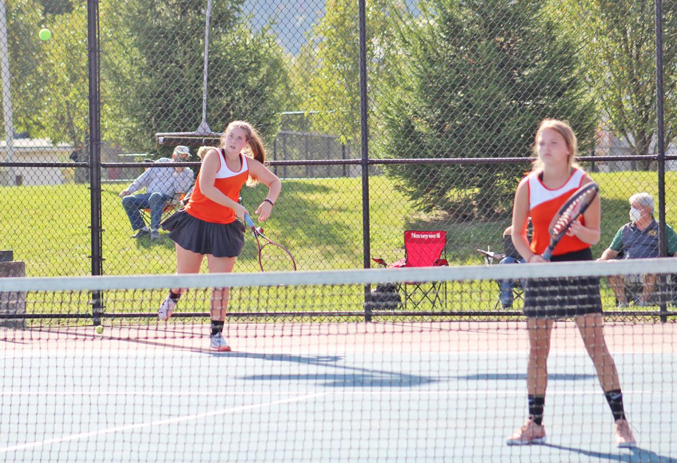 Waverly tennis doubles - district action