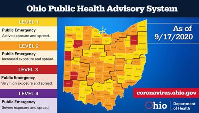 Ohio Public Health Advisory System - Sept. 17, 2020