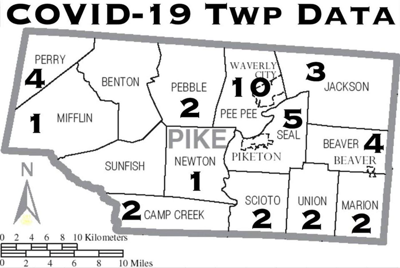 COVID-19 Township Data for Pike County - July 17