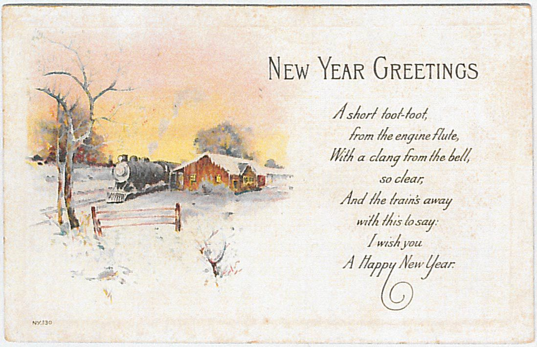 Wishing a Happy New Year to readers with a comical poem and some ...
