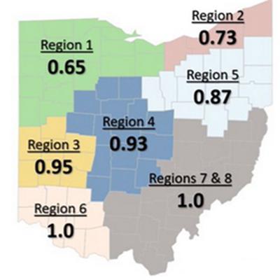 R0 Ohio map June 7