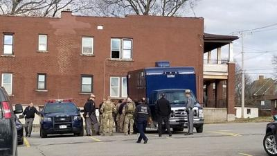 Falls man charged after explosives probe, evacuation