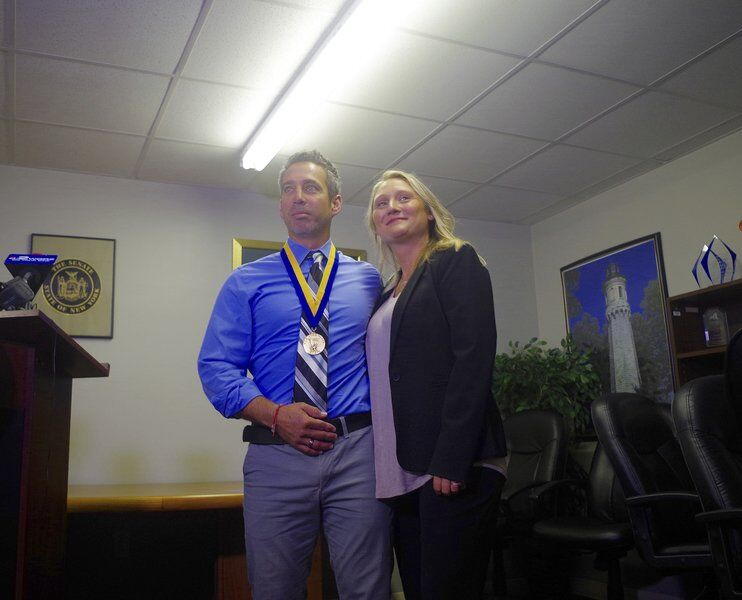 Local man awarded Liberty Medal for saving two-year old's life