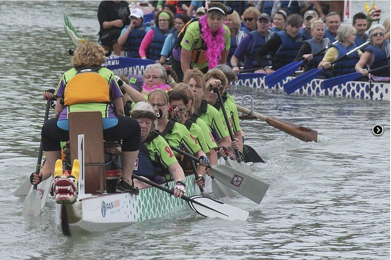 Firing up the dragon: Paddling is an important exercise for breast cancer survivors