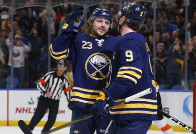 sabres score 4 in 1st beat flyers for 7th straight buffalo sabres