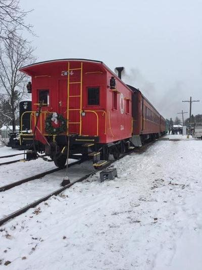 Santa Claus arriving by trainon Saturday