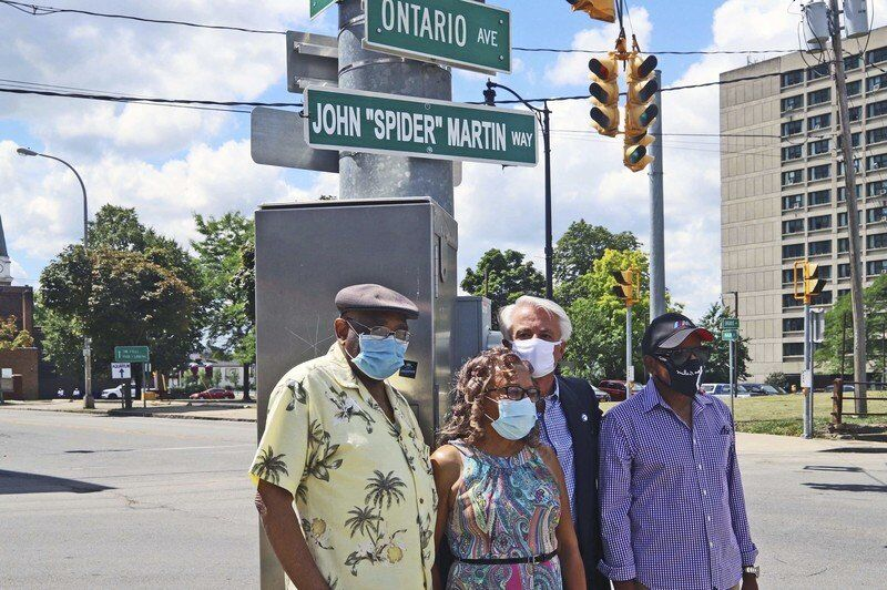"""Falls renames intersection in honor of late jazz musician John """"Spider"""" Martin"""