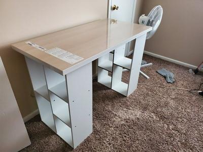 Desk shortage forcing people to get creative