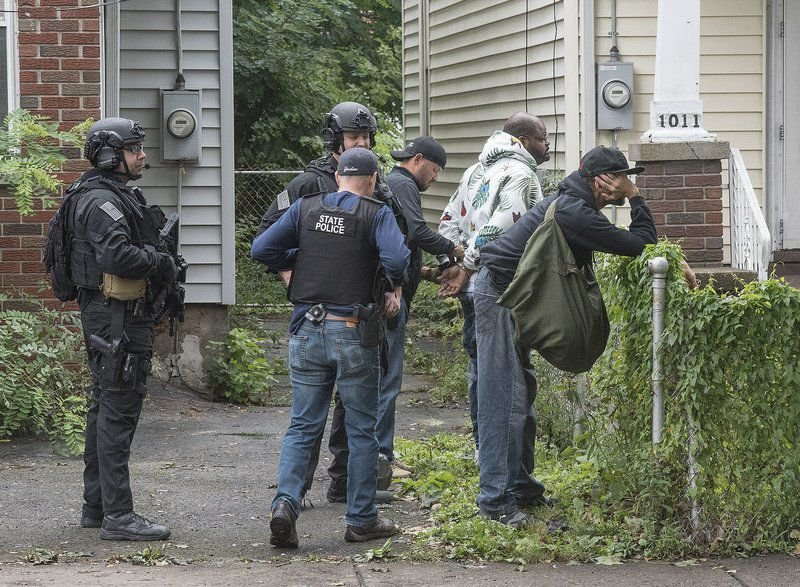 Police task force conducts street sweep in the Falls
