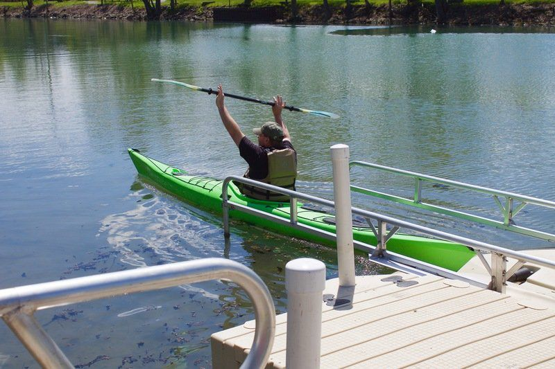 NT officials celebrate kayak launch, bike path openings