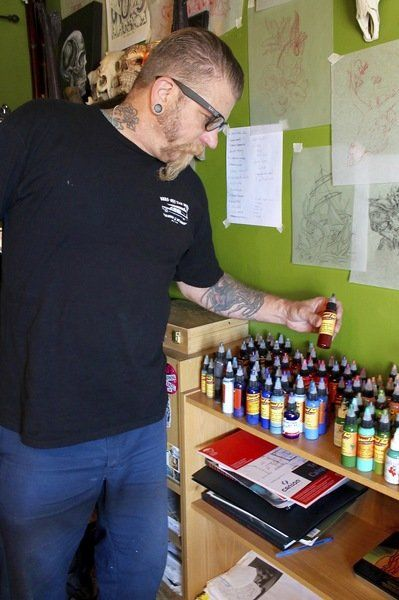 Needle and ink brings sense of normalcy