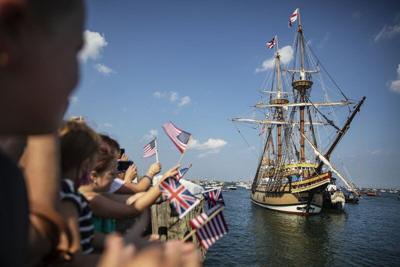 Ex-sailor's film shows Mayflower II's colorful 1957 voyage