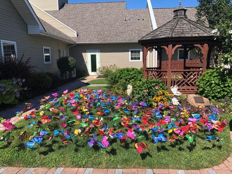 Hospice butterfly garden serves as tribute