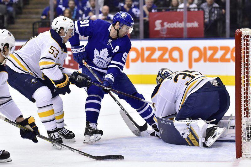 26d66c3b1 Maple Leafs  4-goal 2nd period sinks Sabres 5-3
