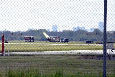 Pilot injured in Falls air base crash