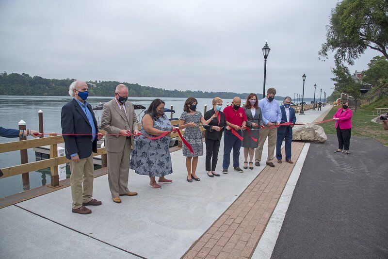 Lt. Gov. tours revamped Lewiston Landing