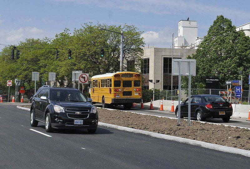 Robert Moses' 'Riverway' roundabout debuts to traffic