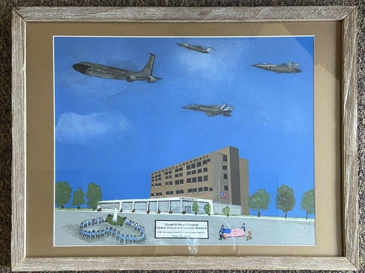 Local Artist Donates Air Force Flyover Painting To Mount St Mary S Local News Niagara Gazette Com