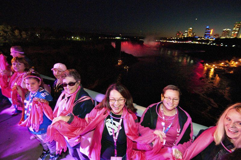 Hard Rock's Pinktober event bathes Niagara Falls in pink