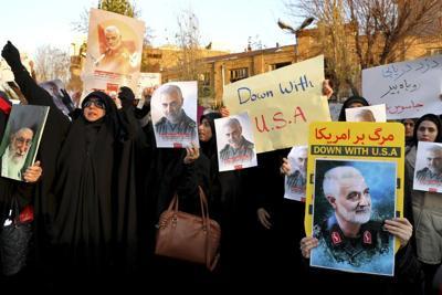 Defying police, Iranians protest over plane shootdown